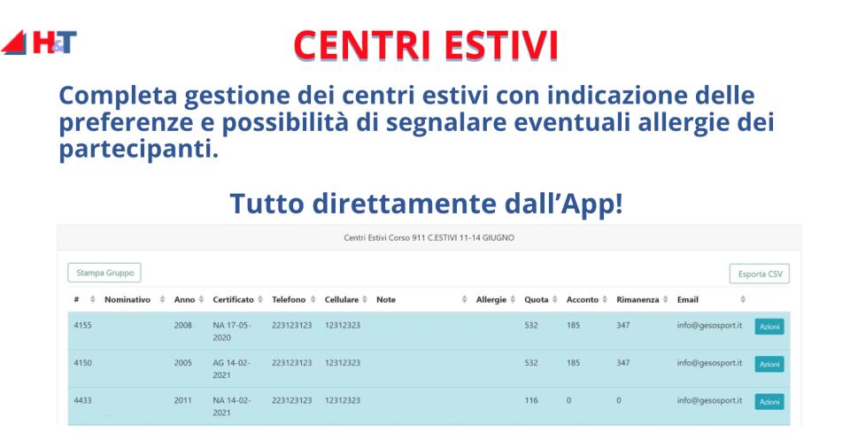 gestione centri estivi - info
