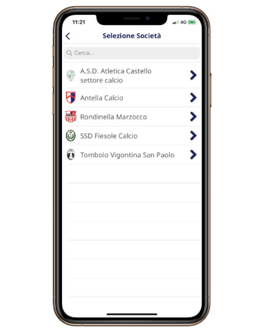 Gestione società calcio - Area Anagrafica